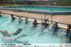 Water skill intro: fin kicking